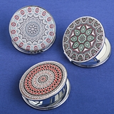 FashionCraft Celestial Compact Mirrors (3 Assorted Designs; Set of 12)
