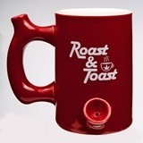 Premium 'Roast & Toast' Red Ceramic Mug from Gifts by FashionCraft