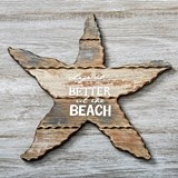 FashionCraft Wooden Starfish with Words 'Life Is Better At The Beach'
