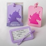 FashionCraft Unicorn Design Rubber Luggage Tags (2 Colors; Set of 24)
