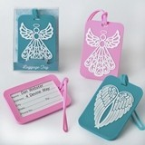 Angel & Angel Wings Rubber Luggage Tags (Assorted Designs; Set of 24)