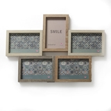 FashionCraft Wood Puzzle Collage Frame with Five (5) Openings
