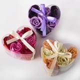 FashionCraft Rose Soaps in Heart-Shaped Boxes (Assorted Set of 12)