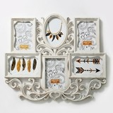 FashionCraft Antique-Ivory-Colored Wall Collage Frame with 6 Openings