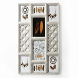 FashionCraft Antique-Ivory-Colored Wall Collage Frame with 8 Openings