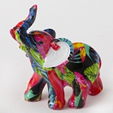 FashionCraft Mini-Size Tropical Floral Elephant Figurine