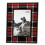 FashionCraft Black & Red Buffalo Plaid Design Glass 4x6 Frame