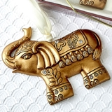FashionCraft Gold-Colored Good Luck Elephant Ornament
