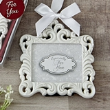 FashionCraft White Baroque Picture Frame/Placecard Holder/Ornament