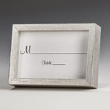 Silver-Finish Wood 2x3 Picture Frame/Place Card Holders (Set of 60)