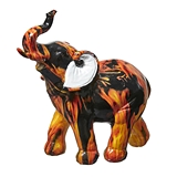 FashionCraft Medium-Size Flame Design Design Elephant Figurine