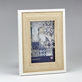 FashionCraft Natural Wood 4 x 6 Frame with Thin White Outer Border