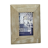 FashionCraft Distressed Wood Wide Border 4x6 Frame