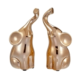 FashionCraft Champagne Gold Intertwined Small Elephants (Set of 2)