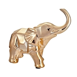 FashionCraft Champagne Gold-Colored Small Geometric Elephant