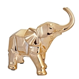 FashionCraft Champagne Gold-Colored Medium-Sized Geometric Elephant