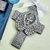 FashionCraft 'Guardians of Faith' Angel Wings Cross Ornament