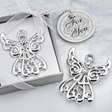 FashionCraft Guardian Angel Figurine Silver-Finish Solid-Metal Pin