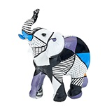 FashionCraft Small-Size Pop Art Geometric Design Elephant Figurine
