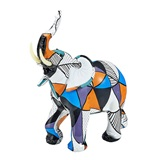 FashionCraft Large-Size Pop Art Geometric Design Elephant Figurine