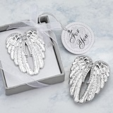 FashionCraft Guardian Angel Wings Bright Silver-Finish Solid-Metal Pin