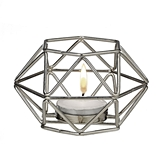 Silver-Metal Hexagon Geometric Design Tealight/Votive Candle Holder