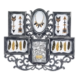 FashionCraft Frame Wall Collage in Pewter Color with 6 Openings