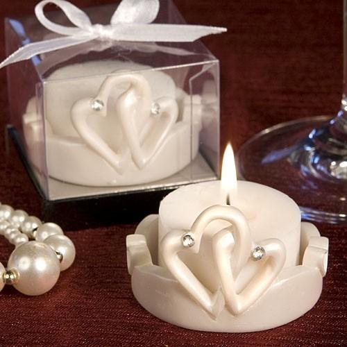 FashionCraft Charming Interlocking Hearts Candle