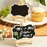 Natural Wood Mini Blackboard and Easel Placecard Holder