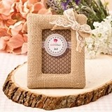 FashionCraft Rustic Burlap Picture Frame/Place Card Holder