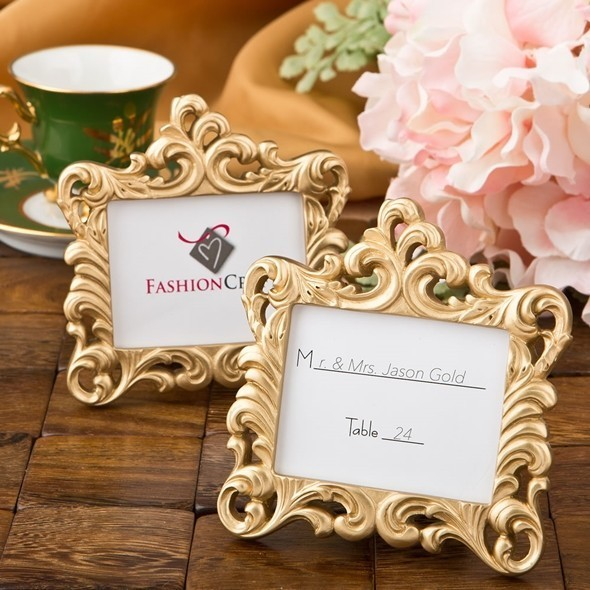 Fashioncraft Gold Colored Baroque Style Picture Frame