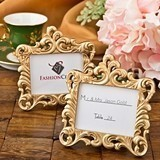 FashionCraft Gold-Colored Baroque-Style Picture Frame/Placecard Holder