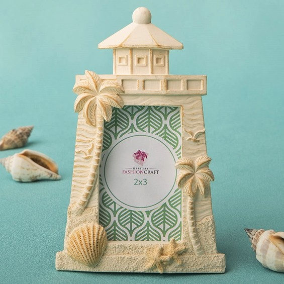 FashionCraft Beach-Themed Light House Frame/Place Card Holder