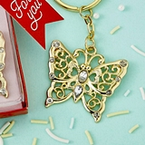 FashionCraft Luxurious Gold-Metal Butterfly Design Key Chain