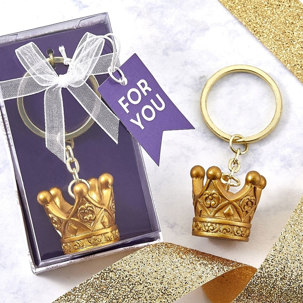 "FashionCraft ""Make it Royal"" Collection Gold Crown Keychain"