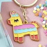 FashionCraft Delightful Pinata Llama Metal Keychain