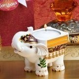 FashionCraft Good Luck Elephant Candle Holder