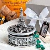 FashionCraft Eiffel Tower Design Curio Box with Fleur de Lis Pattern