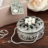 FashionCraft Beautiful Pearl Flower Design Curio Box