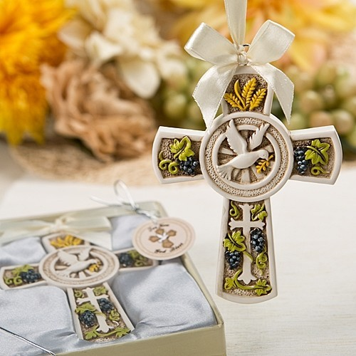 """FashionCraft """"Holy Nature's Harvest"""" Themed Cross Ornament"""
