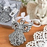 FashionCraft Ornate Antiqued-Silver-Finish Angel Ornament