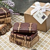 FashionCraft Vintage-Look Luggage Design Trinket Box
