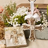 FashionCraft Stunning Vintage Filigree Design Cross Ornament