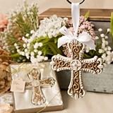 FashionCraft Stunning Vintage Filigree Design Cross Ornament