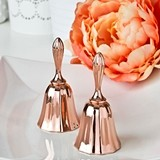FashionCraft Rose Gold-Colored Cast-Metal Kissing Bell with Clapper
