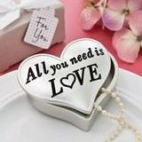 FashionCraft All You Need is LOVE Design Heart-Shaped Trinket Box