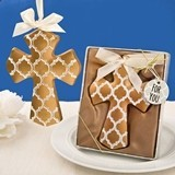 FashionCraft Gold-Colored Hampton Link Design Cross Ornament
