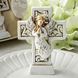 FashionCraft Magnificent Cross Statue with Raised Praying Angel