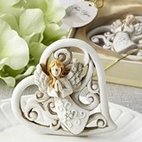 FashionCraft Magnificent Heart Statue with Raised Praying Angel