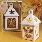 FashionCraft Guardian Angel Lantern with Cut-out Stars and LED Light